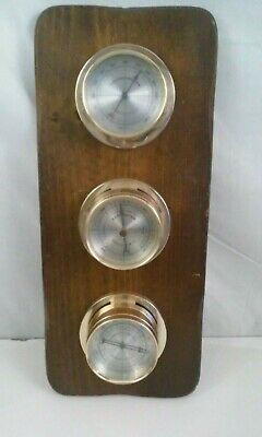 Springfield Instrument Co Wood W/Plastic Thermometer Barometer Humidity gauges