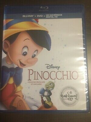 Pinocchio Signature Collection Blu-Ray & DVD Slipcover Canada NO DC LOOK