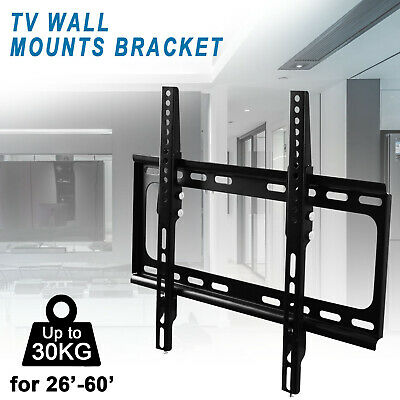 "TV Wall Mount Bracket Tilt Swivel Flat Slim Plasma LCD LED 26-60"" inch Universal"
