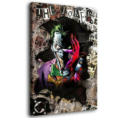 "16""x24""the Joker Poster HD Canva prints Painting Home decor Room Wall art Pictur"