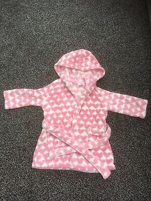 Gorgeous Girls Age 2A LA REDOUTE Dressing Gown Pink Hearts & White
