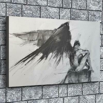 """16""""x26""""Wings Angle HD Canvas prints Painting Home Decor Picture Room Wall art"""