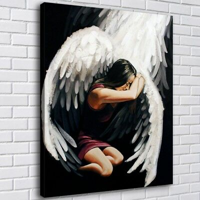 "16""x22""Angel Wings HD Canvas prints Painting Home Decor Picture Room Wall art"