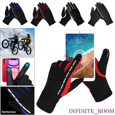 Mens Womens Winter Warm Windproof Fleece Lined Thermal Touch Screen Gloves UK