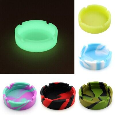 Rubber Silicone Resistant Portable Ashtray Container Round Camouflage fu Ontvx