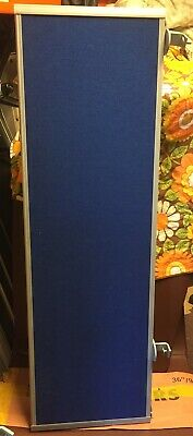 office desk table partition  divider blue with fitting 120cm length