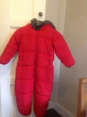Girls Next All In One Coat Age 4-5 Red Perfect Condition Hight 110cm