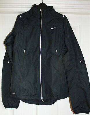 Womens Nike Running Jacket Gilet, Removable Sleeves, Small, Black
