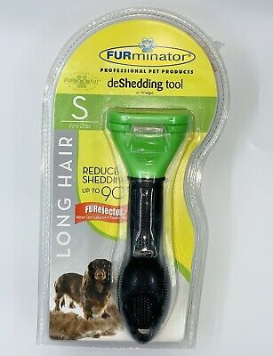 FURminator deShedding Tool for Long Hair Small Dogs up 20lbs