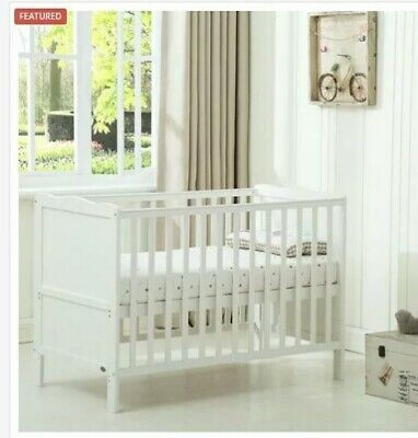 ^  Wooden Florida Baby Cot Bed & Water repellent Mattress Nursery Baby 54:21