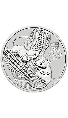2020 Australia Silver Lunar Year of the Mouse 1oz First Year Animal Perth Mint!