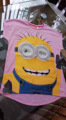 11 - 12 years Nightdress Despicable Me Minions Girls Pink Nightie Brand New