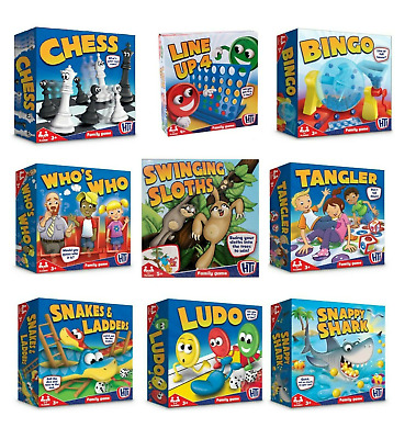 Classic Full Size Board Games - Traditional Kids Children Toys Gifts