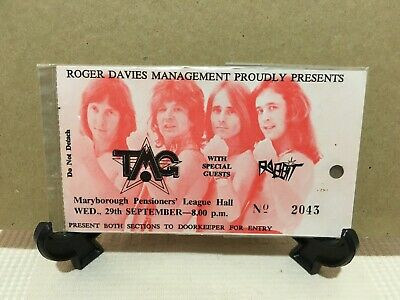 Ted Mulry Gang - Band Autographed Ticket & Best of CD