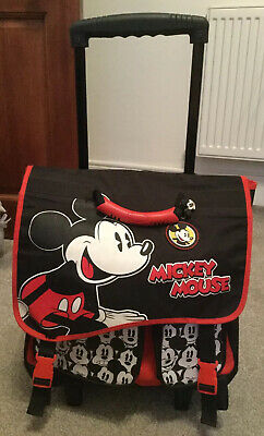 Disney Store Vintage Mickey Mouse Trolley Bag/Backpack- Black, White & Red