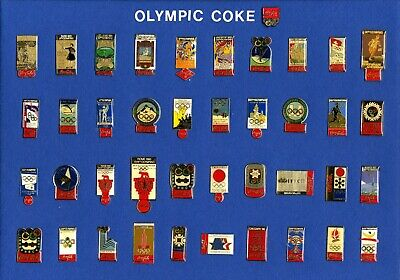 Pin Badge Distintivo Insignia Olympic Games Sponsor Coca Cola 1896-1992