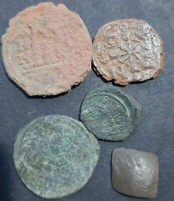 Byzantine bronze coins. Lot of 5 coins