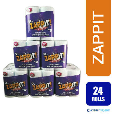 24 Rolls x 10m Rolls ZAPPIT™ Kitchen Roll ( Micro Absorbent Technology)
