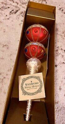"""Waterford Holiday Heirlooms Tree Topper 16"""""""