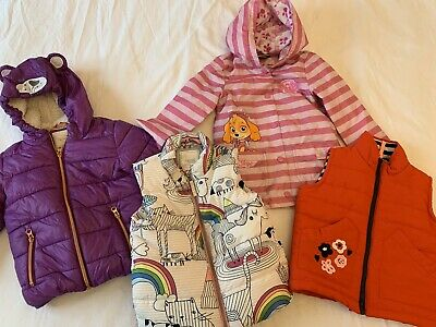 Girls Winter Coat Raincoat Gillet Bundle Size 2-3 Years Next Paw Patrol