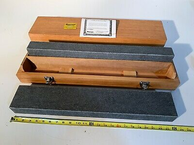 """NEW STARRETT Granite Parallel Surface Plate Grade A Inspection 24""""x4""""x2"""" MATCHED"""