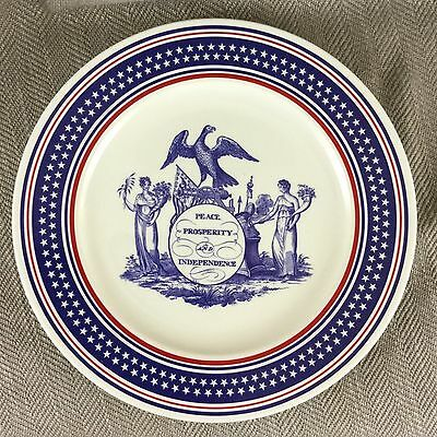 George Bush Presidential Plate China Whitehouse American Americana Mottahedeh