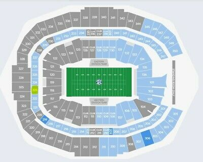 4 SEC Championship Tickets, Section 223, Row 6 Seats 21-24