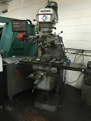 """Hurco 48""""X 12"""" Table Manual Operation Milling Machine W/Anilam 2-Axis D.R.O."""