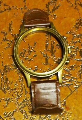 Antique Brass Desk FRAME ONLY Watch Style Adjustable Glass Leather Stand Decor