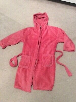 Next, Girls Fluffy Dressing Gown, age 9-10 years, hooded