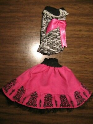 Monster High Doll Clothes Draculaura Picture Day Pink Skirt Black Top