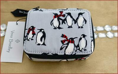 Vera Bradley Travel Pill Case / 7 Day ❄Holiday❄ Playful Penguins Gray Nwt