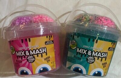 Mix And Mash Squishy  Slime Lot Of 2 Kings Bucket 3LB