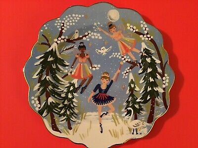 Anthropologie Rifle Paper Co Nutcracker Fairies Ballerinas Plate NEW Christmas