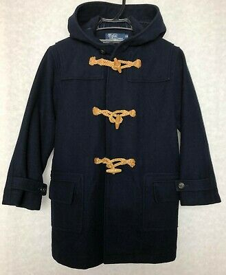 RALPH LAUREN POLO Duffle Coat Kids 120 Size Classic Wool Navy color From JP R-8