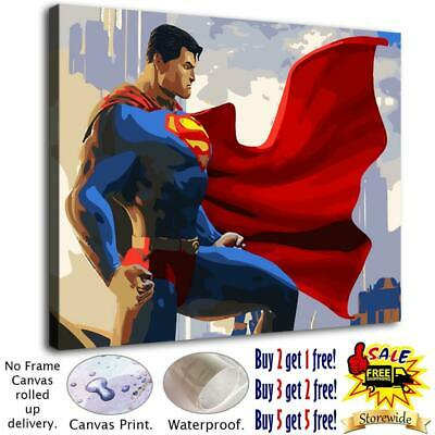 """12""""x16"""" Superman Pictures HD Canvas prints Home decor Room Wall Art Paintings"""