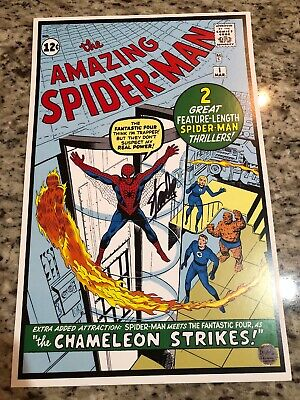 Amazing Spider-Man #1 11X17 Lithograph Signed By Stan Lee W/ Coa