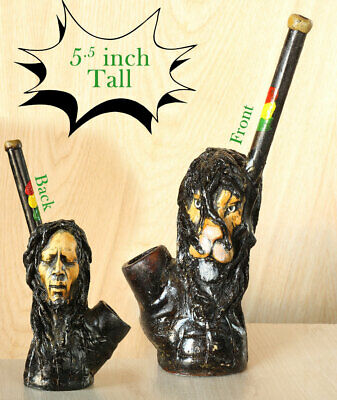 Lion & Bob Hand Crafted Figurine Smoking Pipe Tobacco med Pot herb