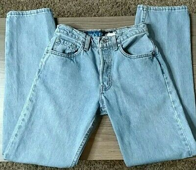 Levi's 90's Vintage High Rise Silver Tab Guy Fit Button Fly Jeans 5/6 Light Wash