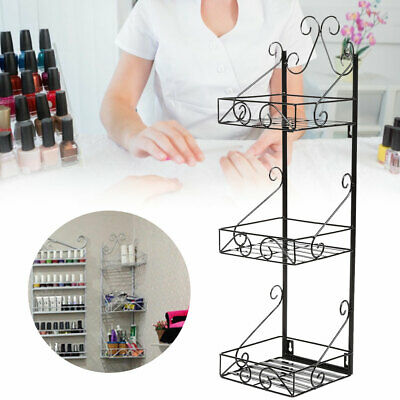 Wall Mounted Nail Polish Display Rack Holder Storage Organizer Metal Shelf Trend