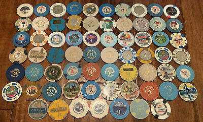 Lot of 67 - $1 Nevada Casino Chips - Mostly Vintage Chips - Blowout Deal !!!!!!