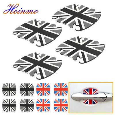Union Jack Door Handle Cup Scratch Guards Protectors Sticker For Mini Cooper