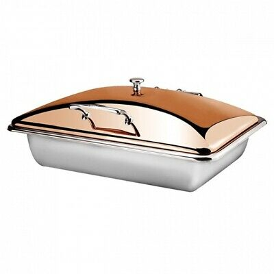Athena Chafing Dish 1/1 Stainless Steel Induction & Fuel Heated Gold Rose Lid