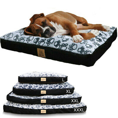 Jumbo Pet Dog Bed Extra Large Kennel Cushion Pillow Waterproof Detachable Cover