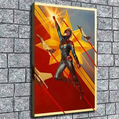 """12""""x18"""" Captain Marvel Painting HD Canvas print Home decor Room Wall Art Picture"""