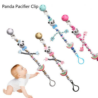 Multicolor  Baby Chew Toy  Teething Soother Pacifiers Chain Pacifier Clip