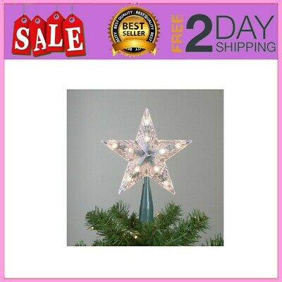 """9"""" Classic 5-Point Star Christmas Tree Topper - Clear Lights"""