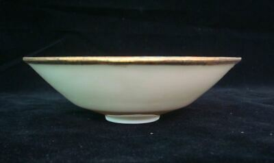 """Very Rare Chinese Old Hand Carving Kid White Glaze """"Ding"""" Kiln Porcelain Bowl"""