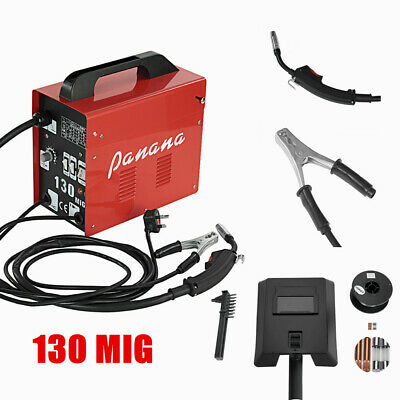 Mig-130 Portable Welder Welding Machine No Gas & Gasless Mig Flux Tool Set