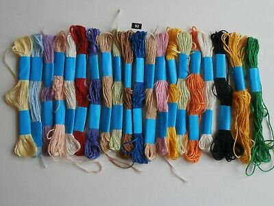 20 skeins assorted embroidery threads